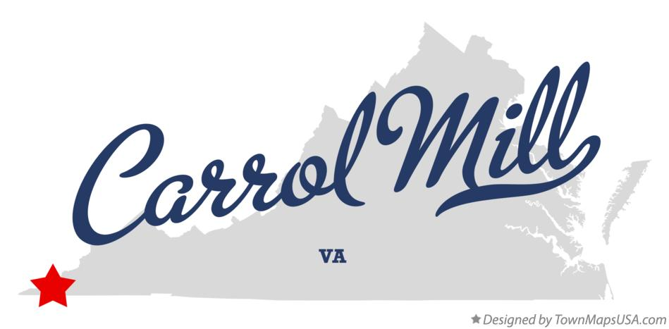Map of Carrol Mill Virginia VA