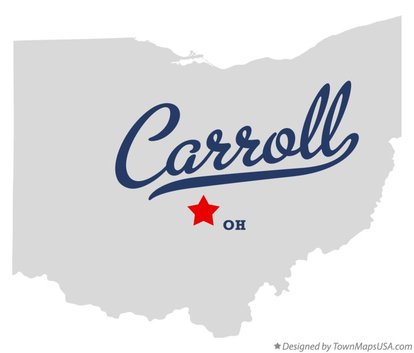 Map of Carroll Ohio OH