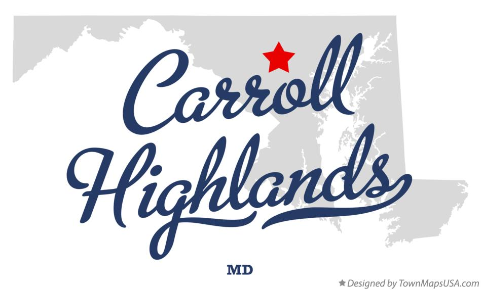 Map of Carroll Highlands Maryland MD