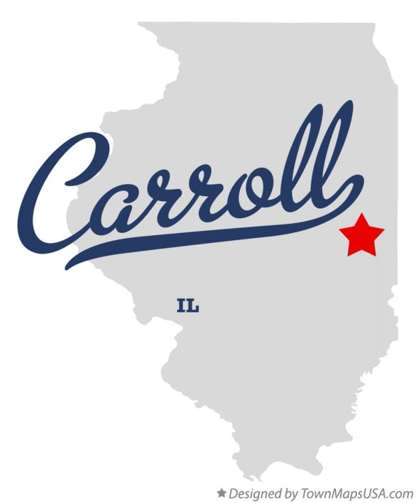 Map of Carroll Illinois IL