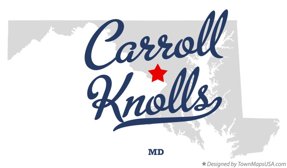 Map of Carroll Knolls Maryland MD