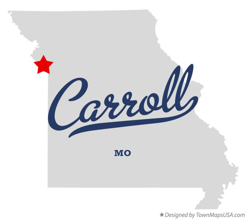 Ferrelview (MO) United States  city photos : Map of Carroll, Platte County, MO, Missouri