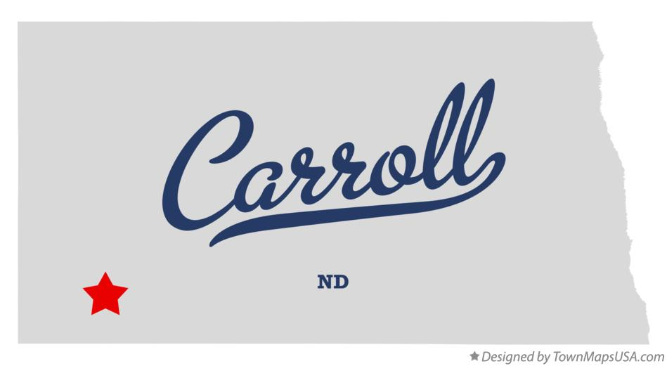 Map of Carroll North Dakota ND