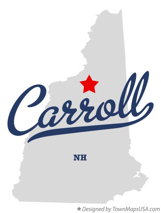 Map of Carroll New Hampshire NH