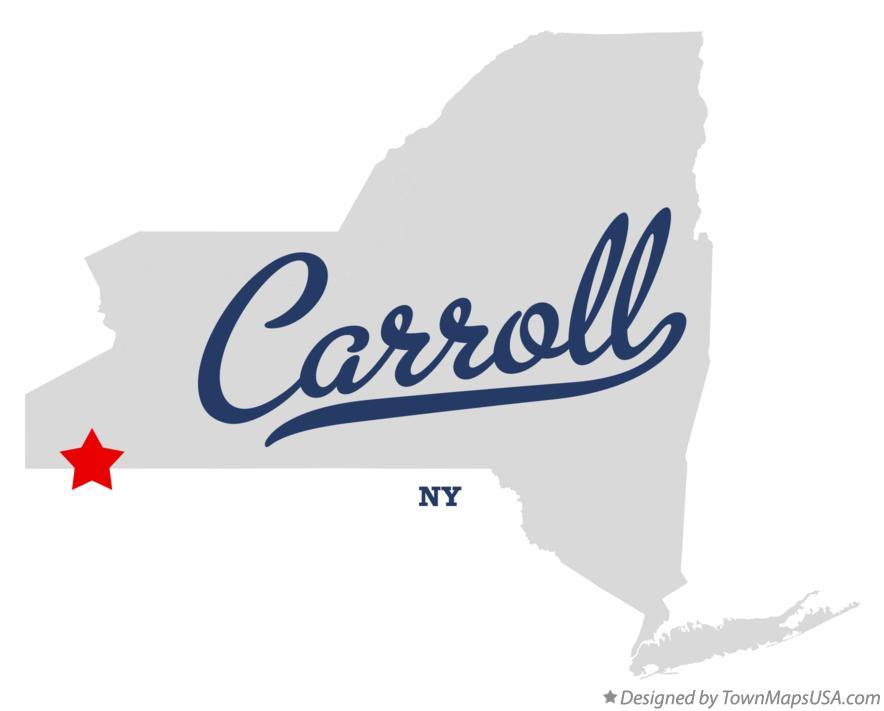 Map of Carroll New York NY