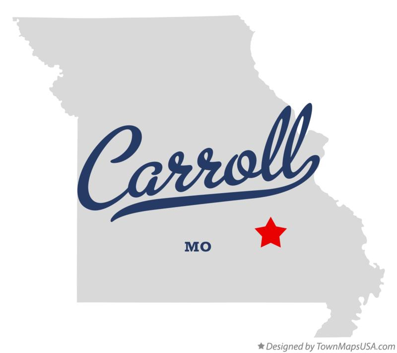 Map of Carroll Missouri MO