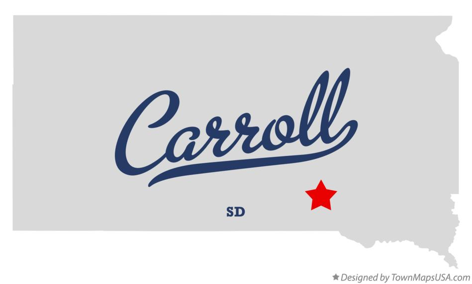 Map of Carroll South Dakota SD