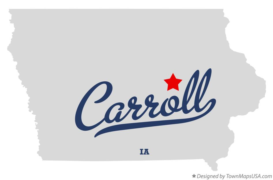 Map of Carroll Iowa IA