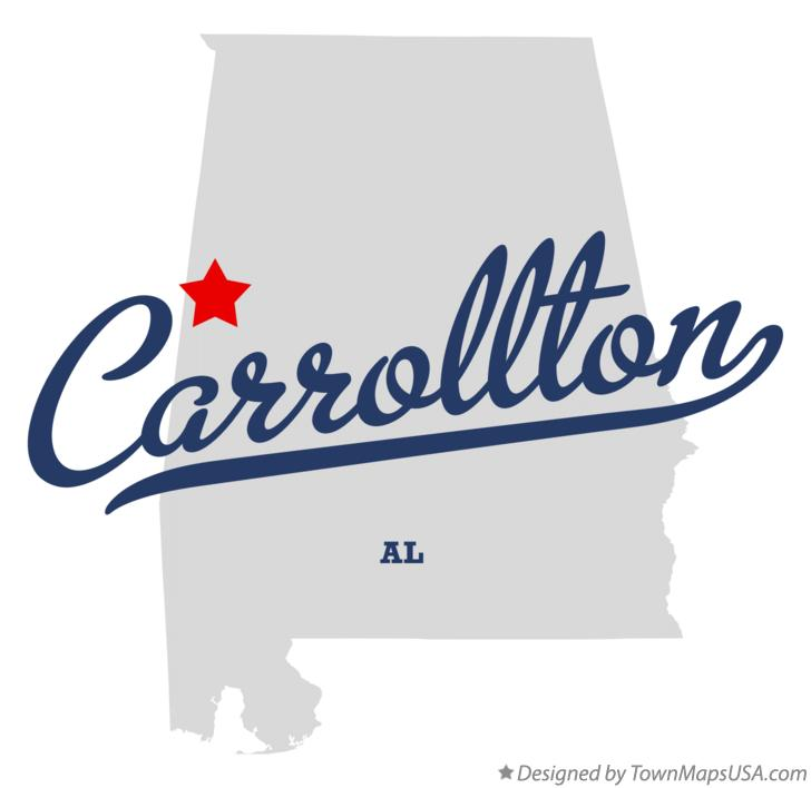 Map of Carrollton Alabama AL