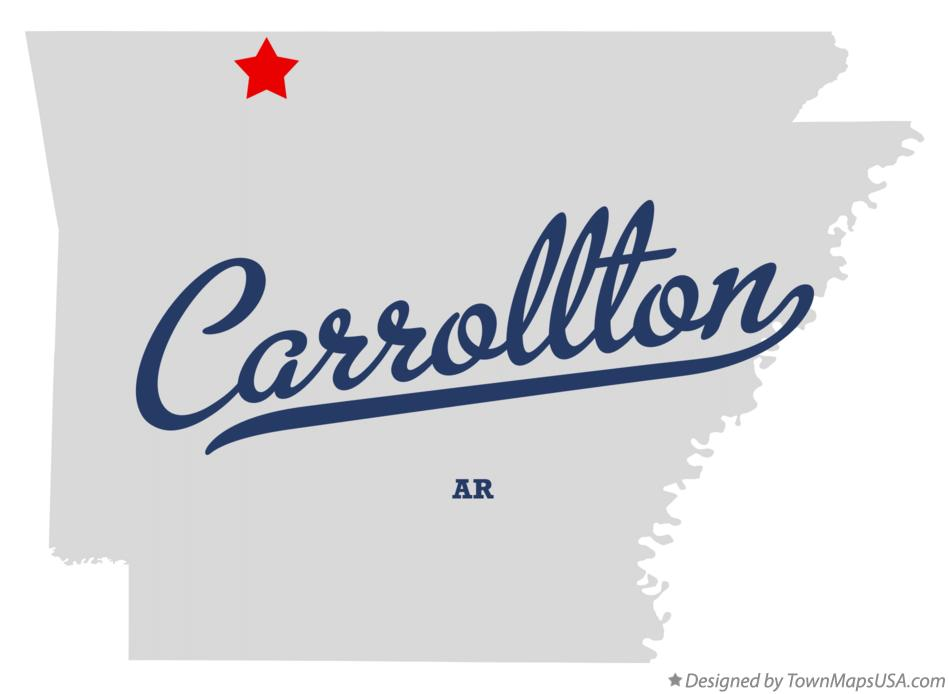 Map of Carrollton Arkansas AR