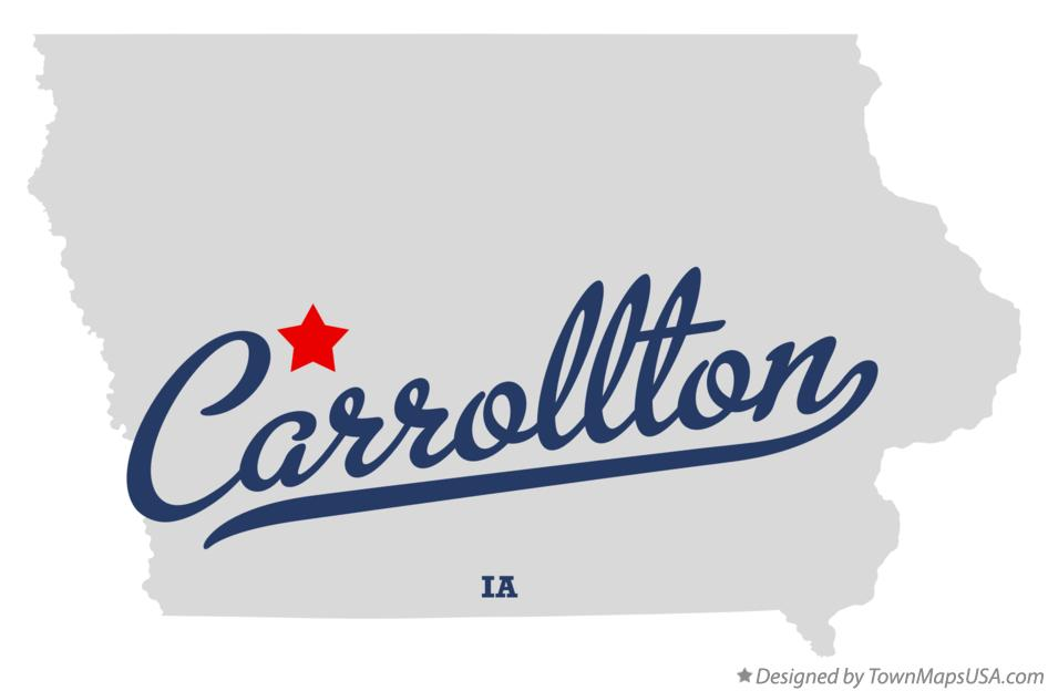Map of Carrollton Iowa IA