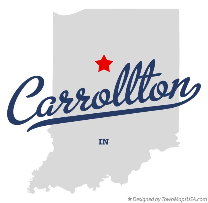 Map of Carrollton Indiana IN