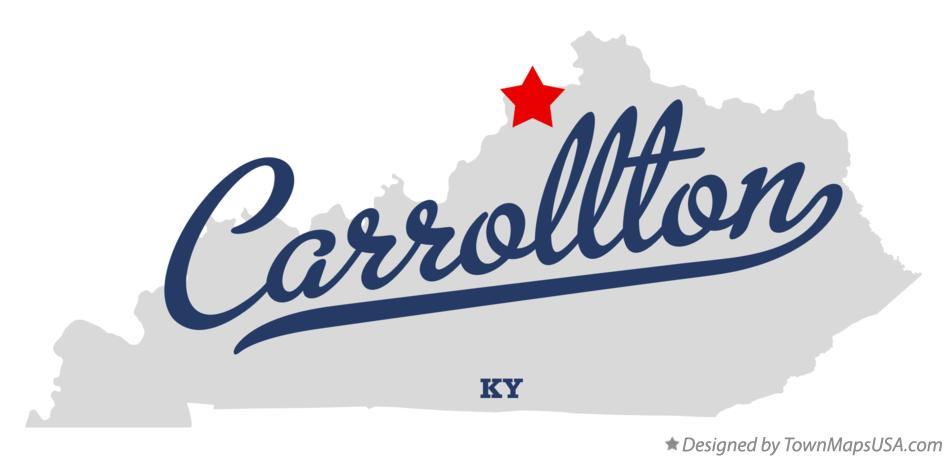 Map of Carrollton Kentucky KY