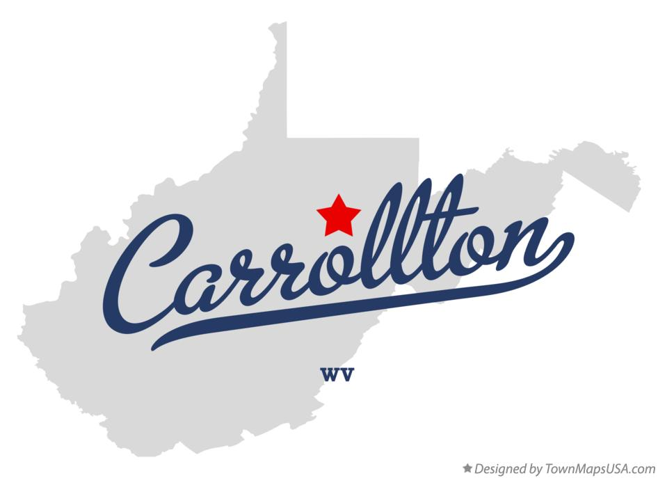 Map of Carrollton West Virginia WV