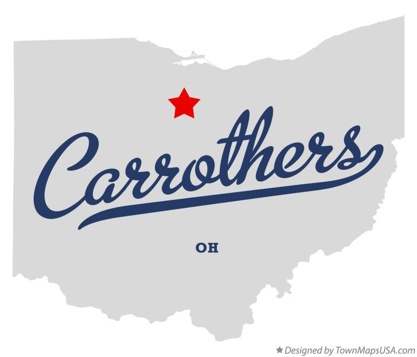 Map of Carrothers Ohio OH