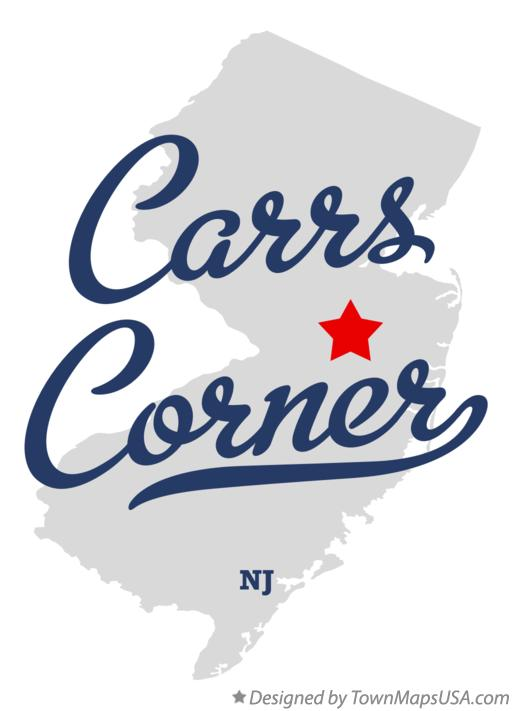 Map of Carrs Corner New Jersey NJ