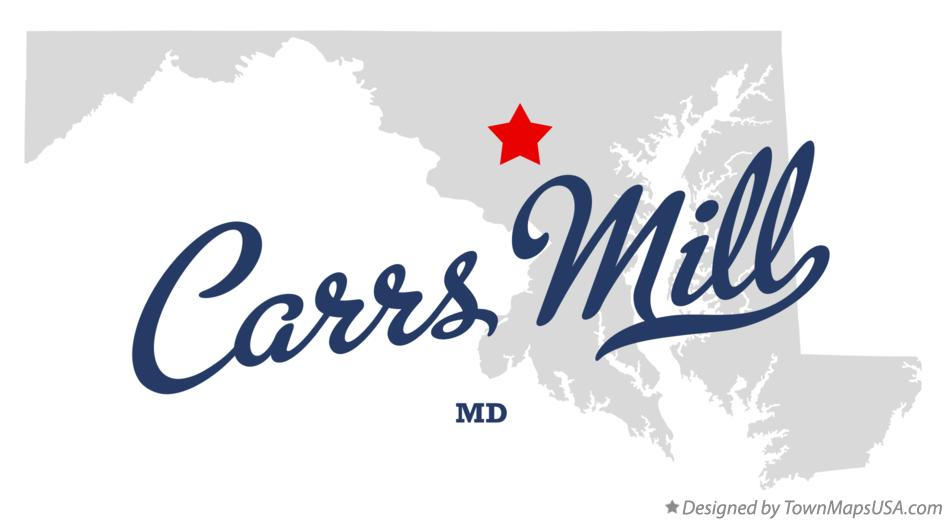 Map of Carrs Mill Maryland MD