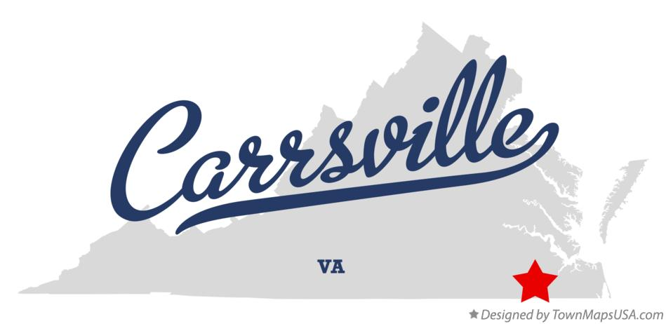 Map of Carrsville Virginia VA