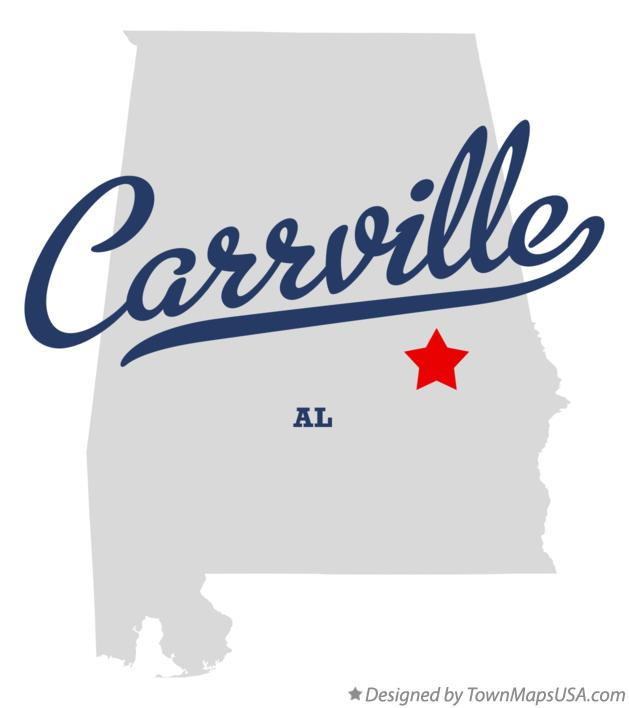 Map of Carrville Alabama AL