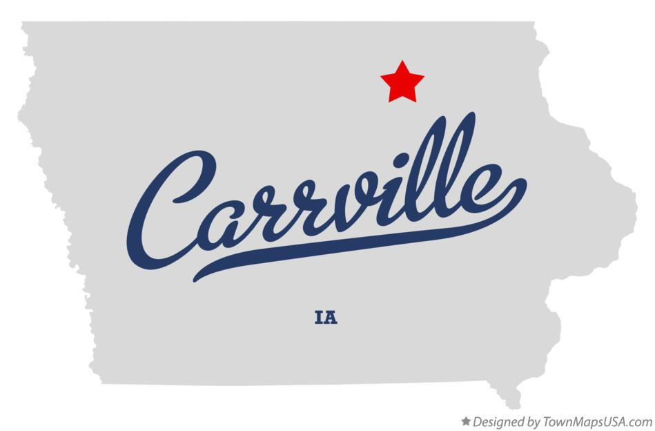 Map of Carrville Iowa IA