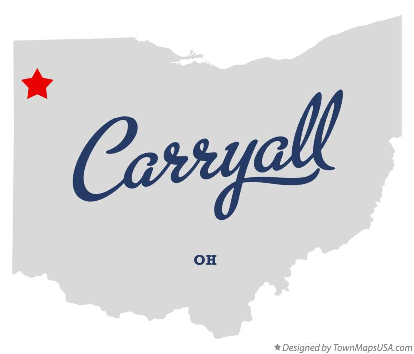 Map of Carryall Ohio OH