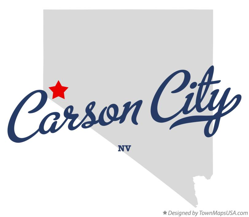 Map of Carson City Nevada NV