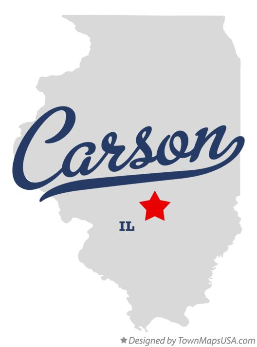 Map of Carson Illinois IL
