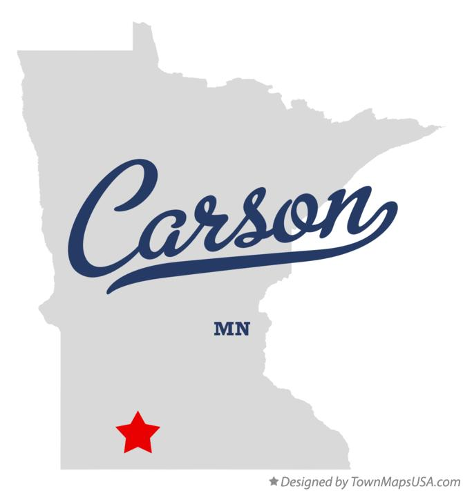 Map of Carson Minnesota MN