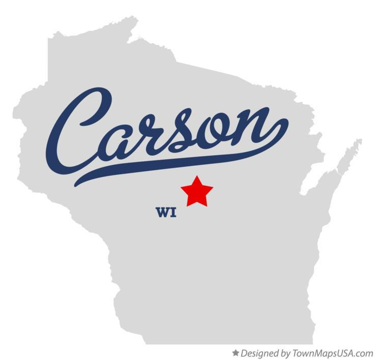 Map of Carson Wisconsin WI