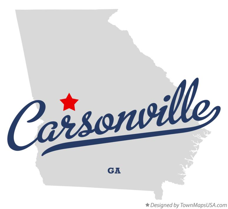 Map of Carsonville Georgia GA
