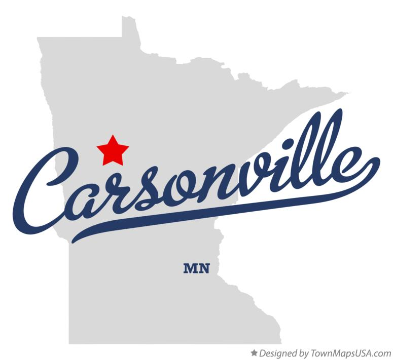 Map of Carsonville Minnesota MN