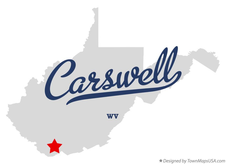 Map of Carswell West Virginia WV