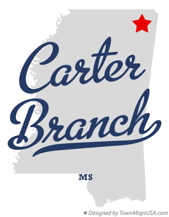 Map of Carter Branch Mississippi MS
