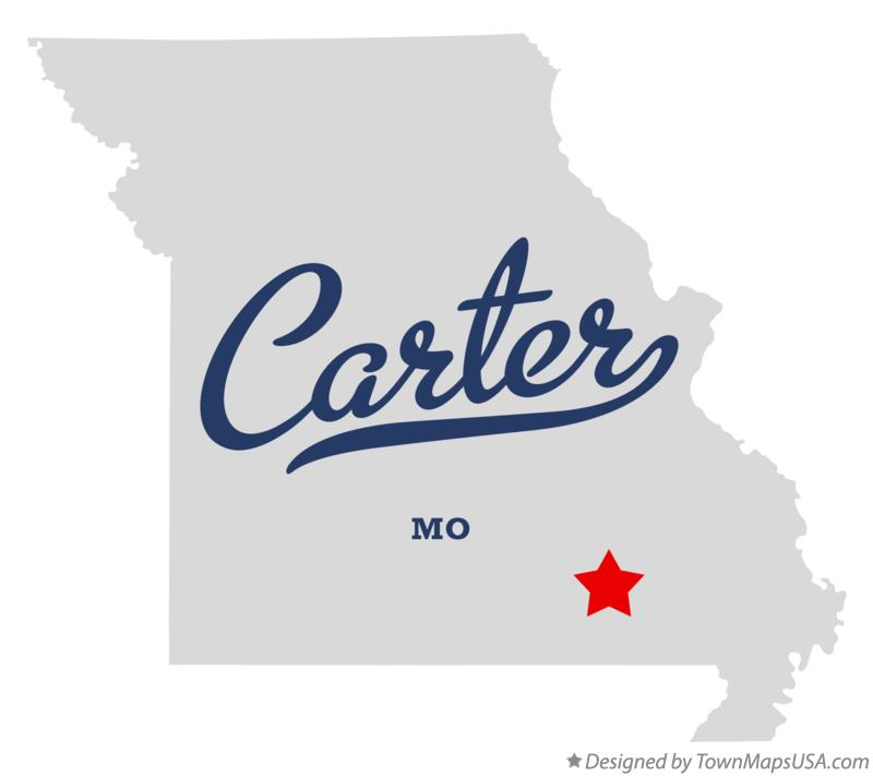 Map of Carter Missouri MO
