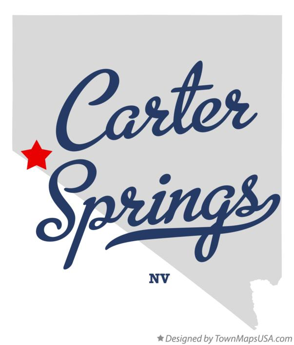 Map of Carter Springs Nevada NV