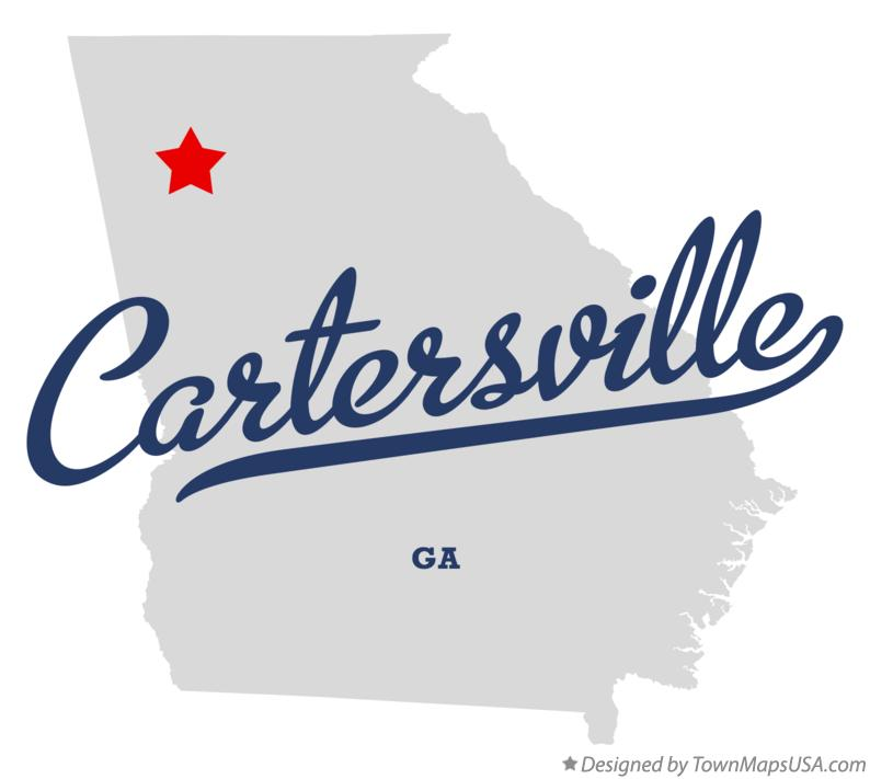 Austell Georgia Map Map of Cartersville Georgia ga