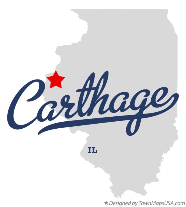 Map of Carthage Illinois IL