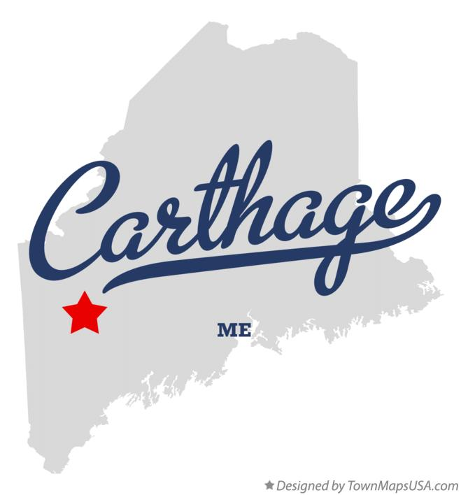 Map of Carthage Maine ME