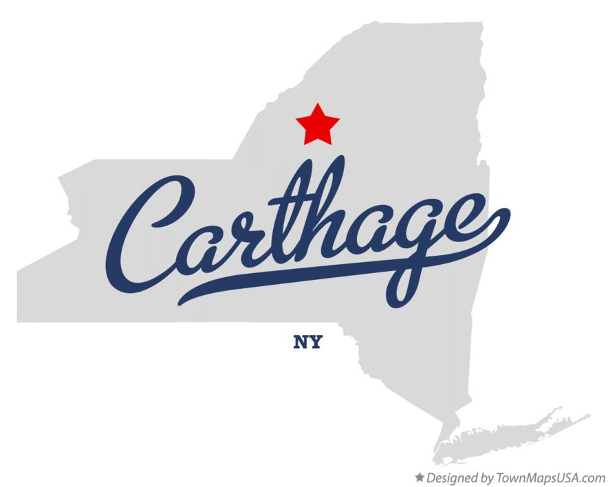 Map of Carthage New York NY