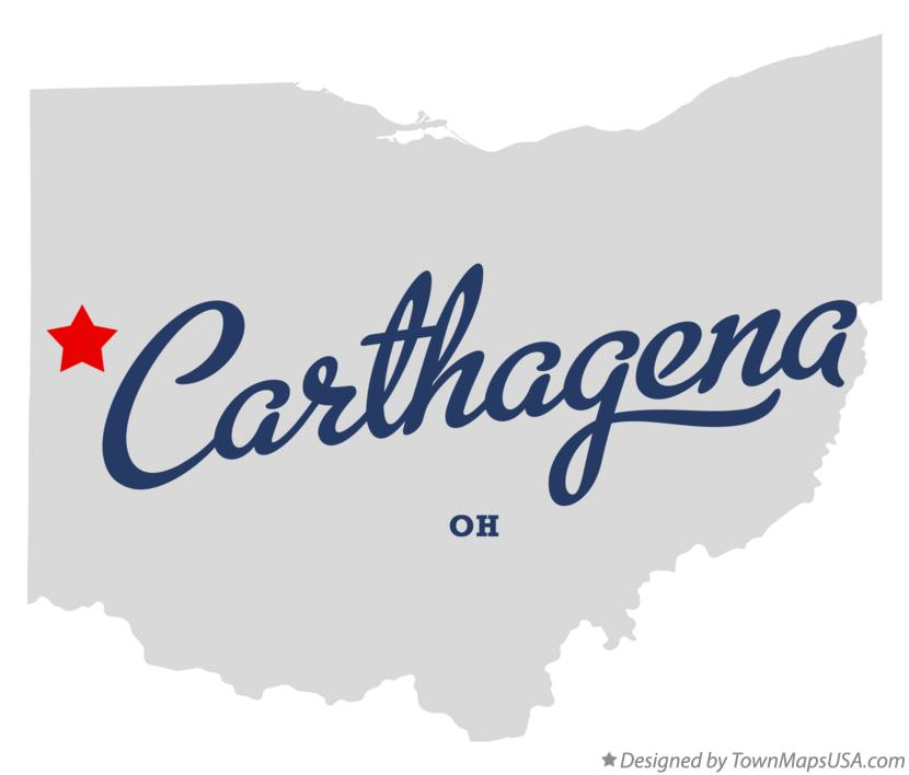 Map of Carthagena Ohio OH