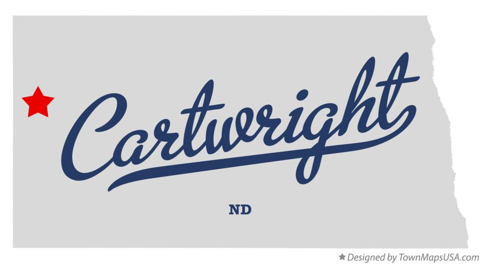 Map of Cartwright North Dakota ND