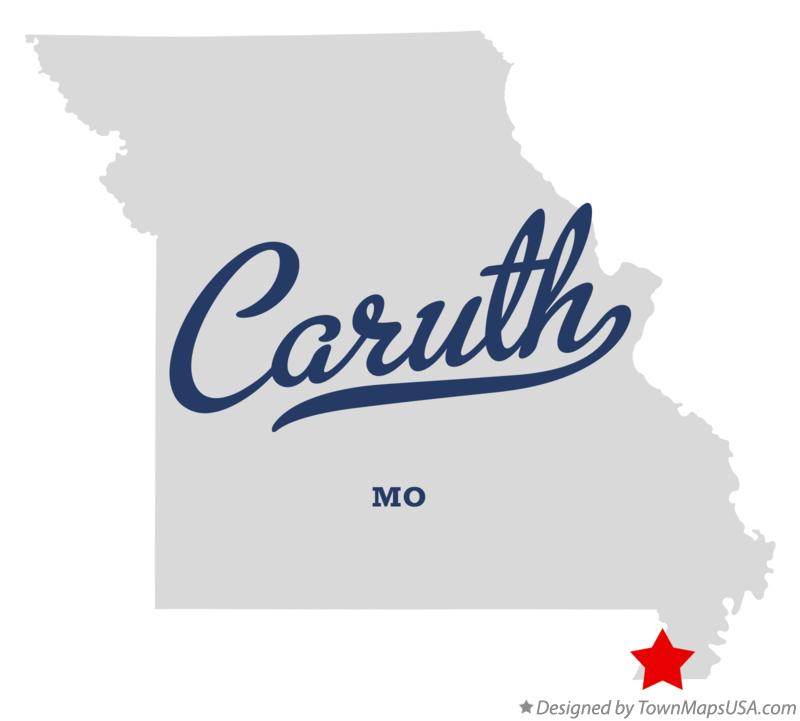 Map of Caruth Missouri MO