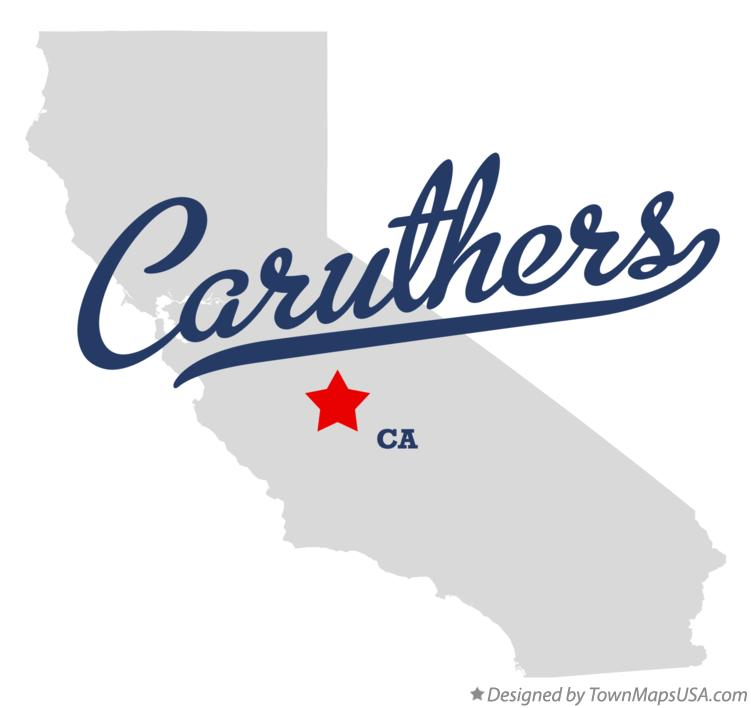 Map of Caruthers California CA