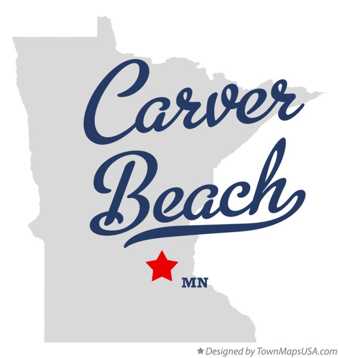 Map of Carver Beach Minnesota MN