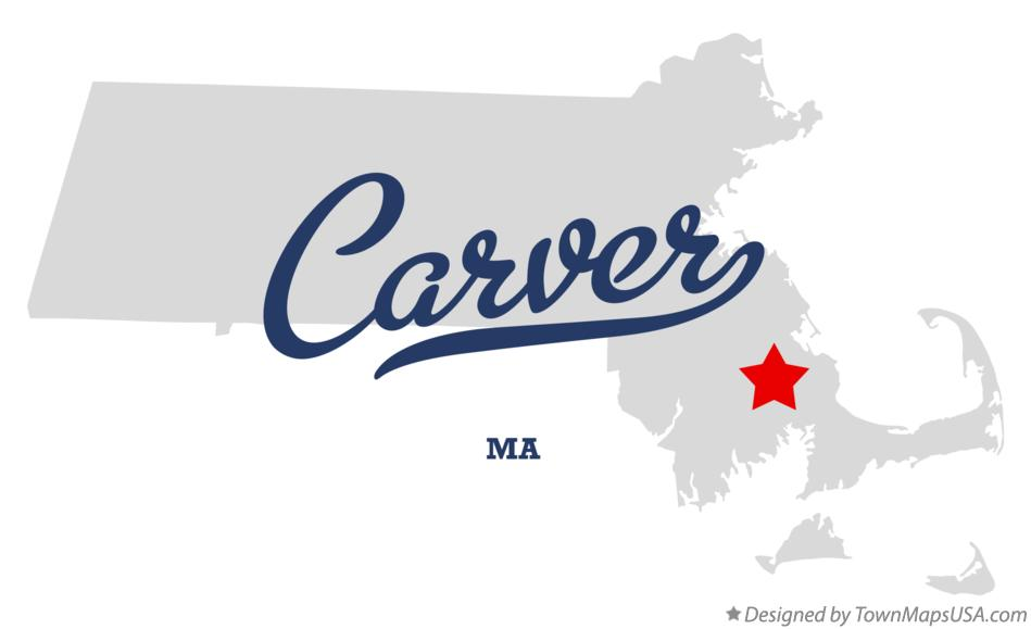 Map of Carver Massachusetts MA