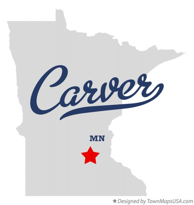 Map of Carver Minnesota MN