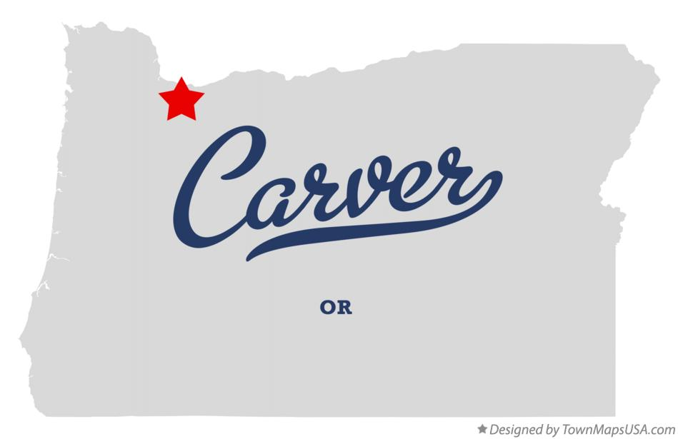 Map of Carver Oregon OR