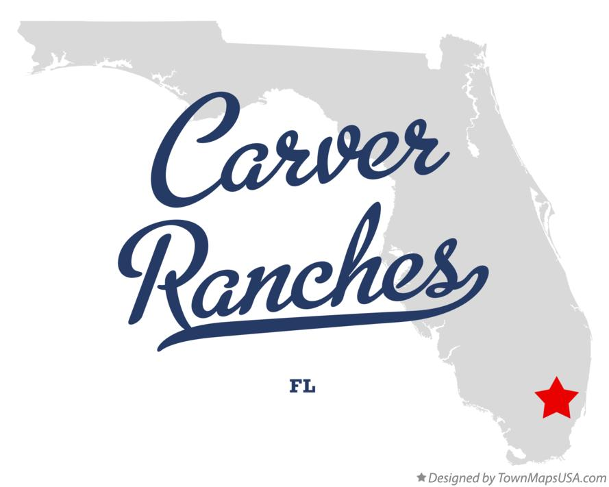 Map of Carver Ranches Florida FL