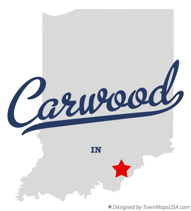 Map of Carwood Indiana IN