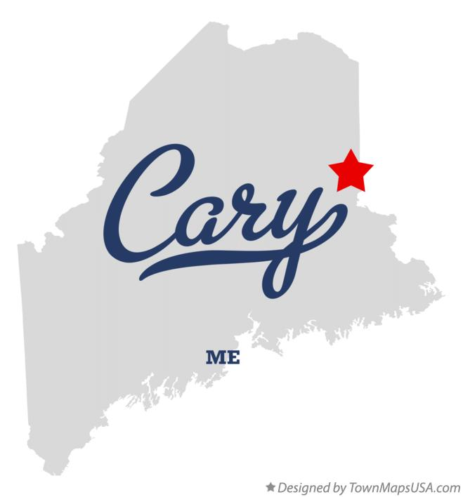 Map of Cary Maine ME